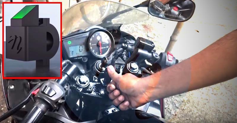 [Video] Fingerprint-enabled motorcycle starter is supercool!