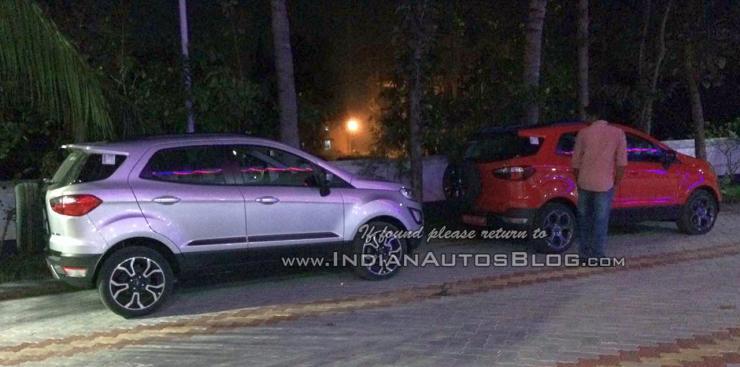 Ford EcoSport Titanium S & Signature Edition compact SUVs spied testing in India