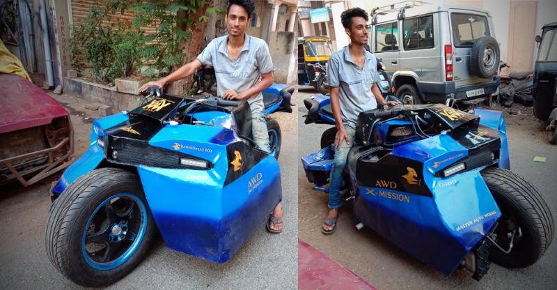 Hammerhead 800: India's first 'all-wheel drive' bike uses a Maruti 800 engine [Video]