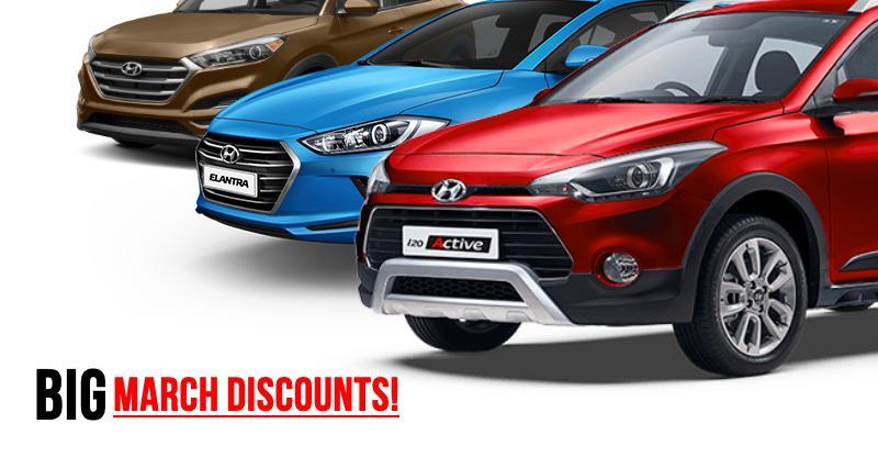 Hyundai Cars & SUVs with BIG March discounts: Grand i10, Xcent to Elantra, i20 Active