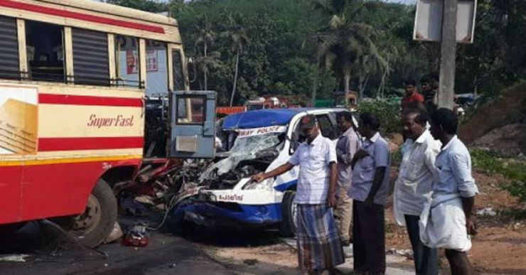 Toyota Innova driven by Highway patrol crashes into bus: How did this happen? [VIDEO]