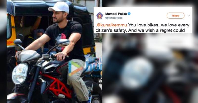 Kunal Khemu rides Saif Ali Khan's MV Agusta Brutale superbike; Mumbai police gets into action