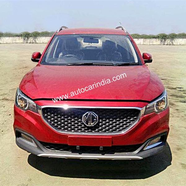 Mg Zs Suv Spotted In India To Rival Hyundai Creta Jeep Compass