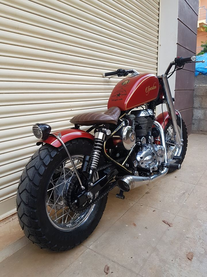 Modified Royal Enfield Thunderbird 350 Spartan Images