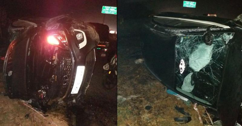 Tata Nexon compact SUV rolls multiple times in an accident; Owner thanks Tata build quality