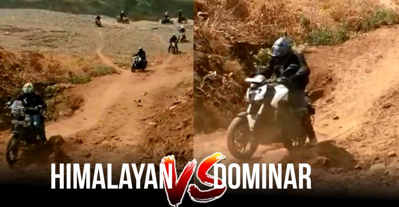 Bajaj Dominar vs Royal Enfield Himalayan on an off-road track: This is what happened [Video]