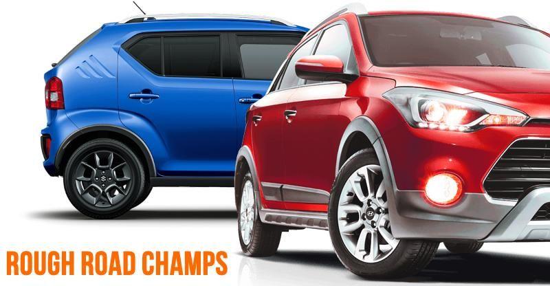 10 GREAT cars (hatchbacks & sedans) for rough roads: Maruti Ignis to Hyundai i20 Active