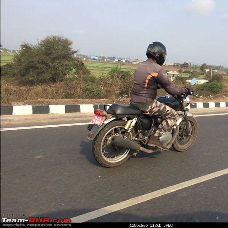 Royal Enfield Interceptor INT 650 cc motorcycle again spied testing in India