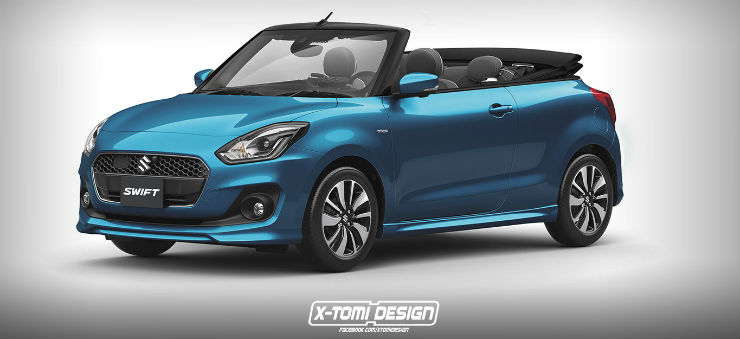 10 Popular Indian Cars Reimagined As Convertibles Maruti Swift