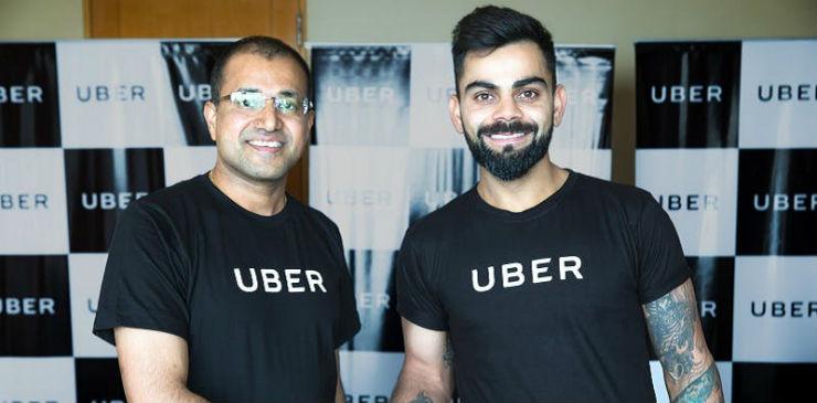 Virat Kohli is Uber India brand ambassador