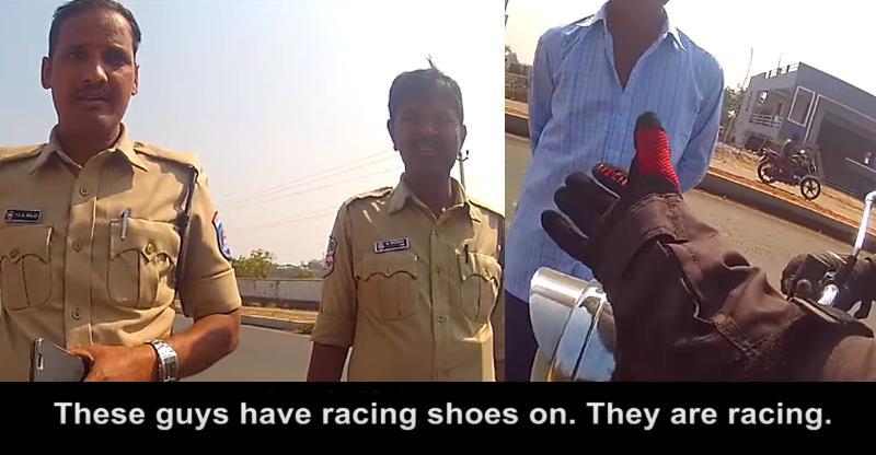 Cops harass Honda NAVi & Royal Enfield riders for wearing 'riding gear' [Video]