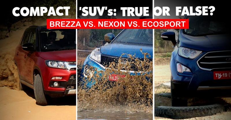 Compact SUV off-road shoot out: Maruti Suzuki Brezza vs Tata Nexon vs Ford EcoSport