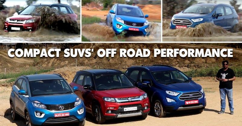 Maruti Brezza vs Tata Nexon vs Ford EcoSport: Video of compact SUVs in an offroad battle