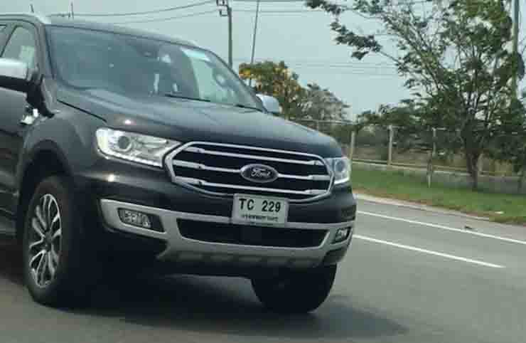 ford endeavour facelift image