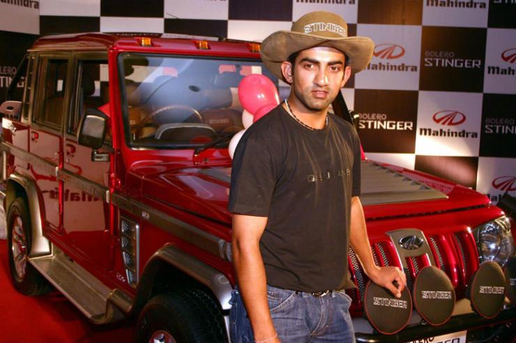 indian cricketers suv mahindra stinger