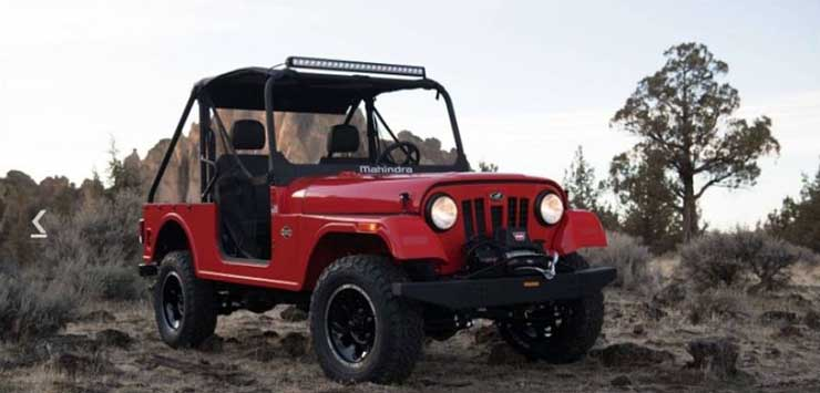 mahindra roxor images red front angle