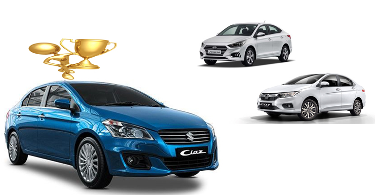 maruti ciaz vs honda city vs hyundai verna