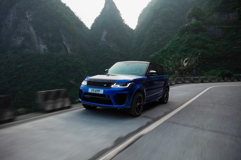 range rover sport svr ferrari Tianmen Mountain road