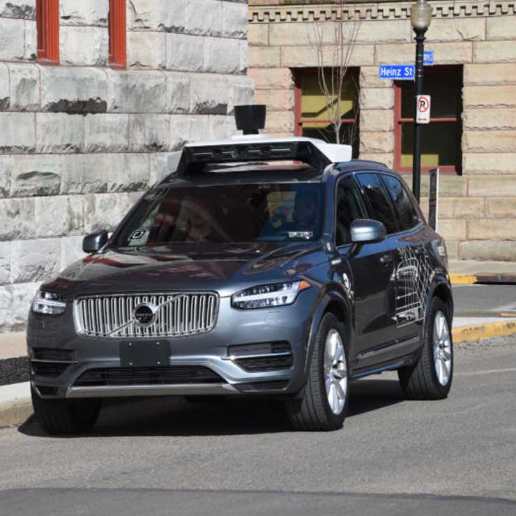 uber self driving car Volvo xc90