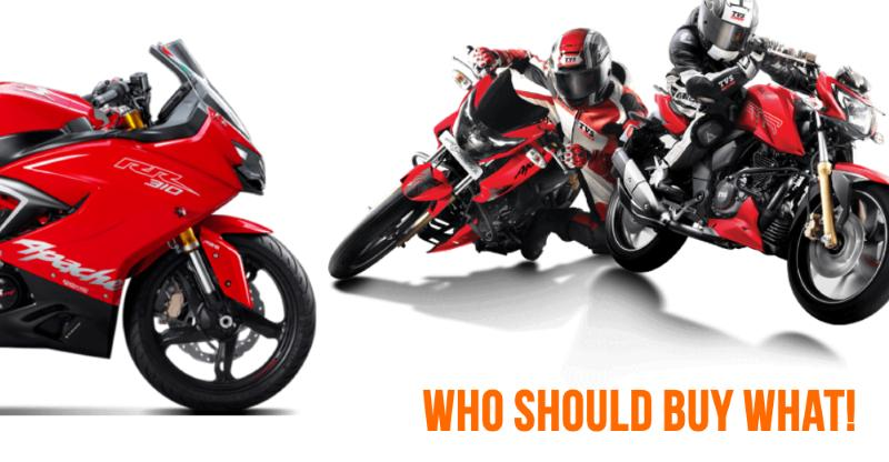 8 kinds of TVS Apache motorcycles: Who should buy what