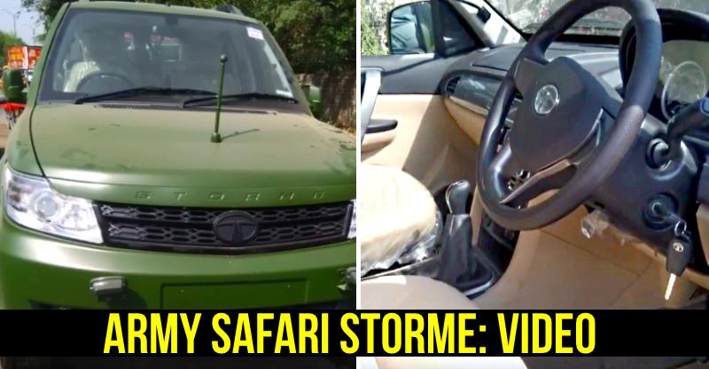 Indian Army-spec Tata Safari Storme: Video reveals the 4X4 SUV inside out!