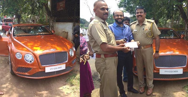 Bentley Continental GT owner pays Rs. 60 lakhs for new registration plates