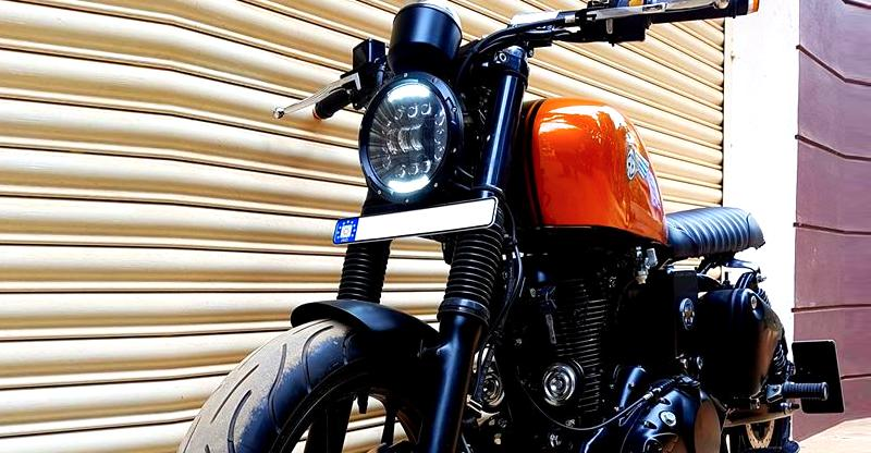 Modified Royal Enfield Electra 350 'Chief' is the latest motorcycle in Bulleteer Customs' Bratrod series