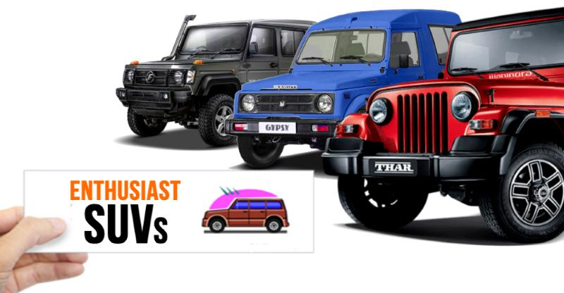 12 'Enthusiast' SUVs of India: From Mahindra Thar to Jeep Compass Trailhawk