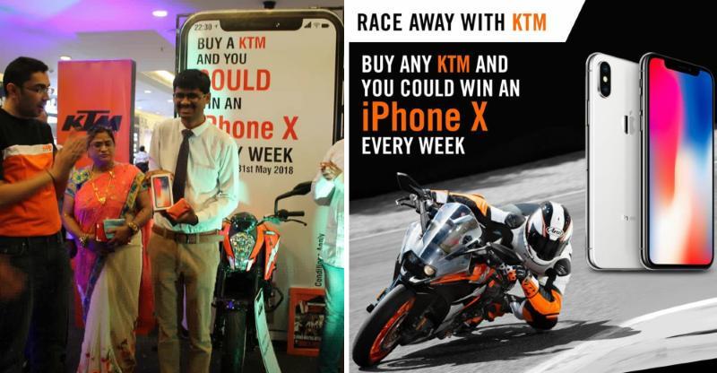 KTM Duke buyer just won an iPhone X [Video]