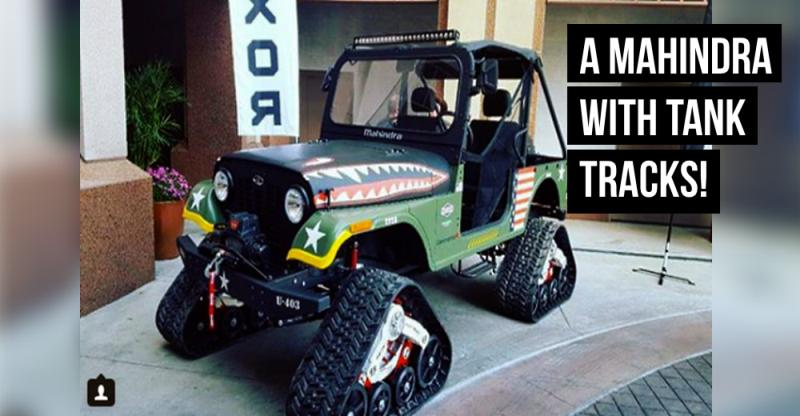 Jeep In Snow >> Mahindra Thar-based Roxor with 'tank tracks' can TRULY go ...