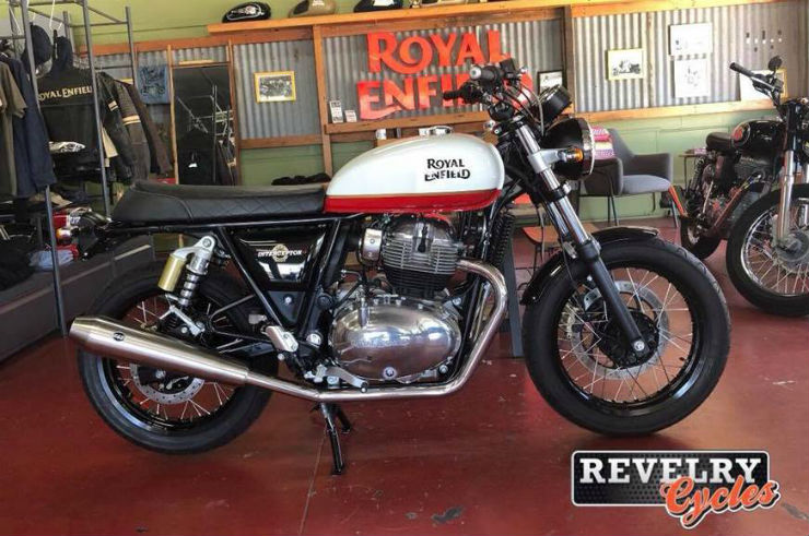 Upcoming Royal Enfield Continental Gt 650 Interceptor Spied In Two