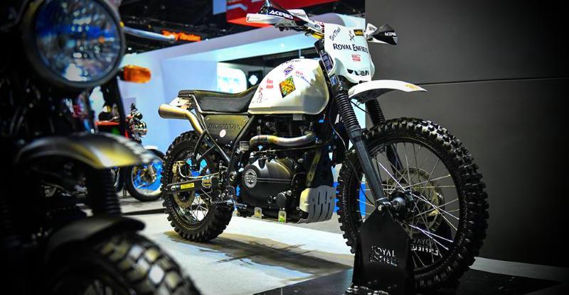 Royal Enfield Himalayan Scrambler ADV motorcycle concept is TOTALLY rough & tough