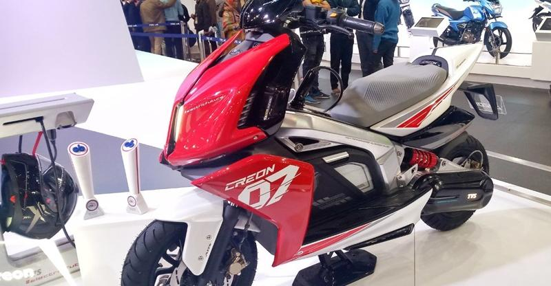 TVS Jupiter & Creon electric scooters to get India's first two wheeler 'parking assist system'
