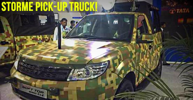 Tata Safari Storme pick-up truck in Indian Army camouflage: This is IT!
