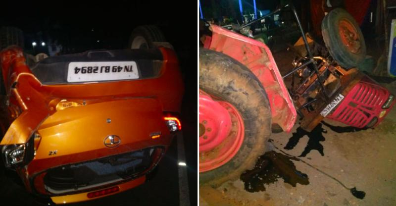 Tata Tiago hits tractor: Here's the result