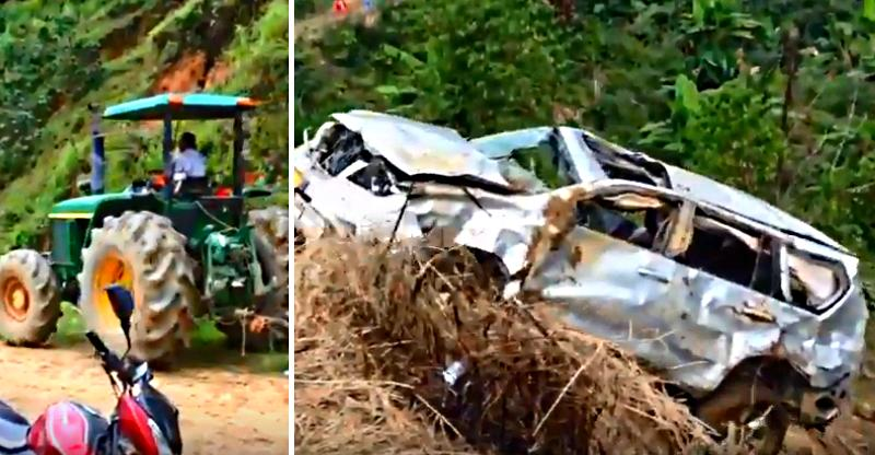 Ford Endeavour SUV rescue by tractors goes seriously WRONG [Video]