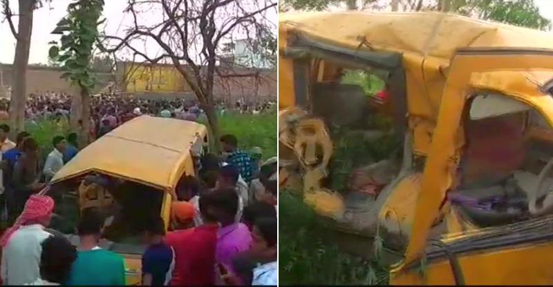 13 kids die in a horrific crash as train hits school van [Video]