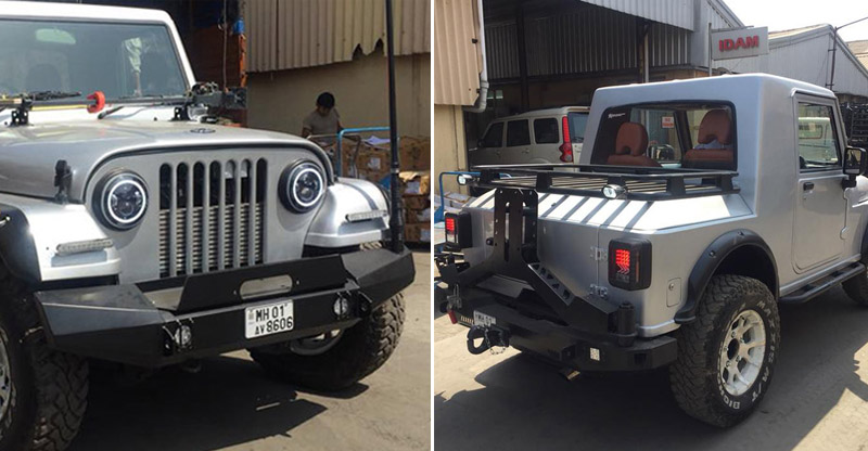 This modified Thar from Mahindra Adventures is called 'Adventure One', looks neat!