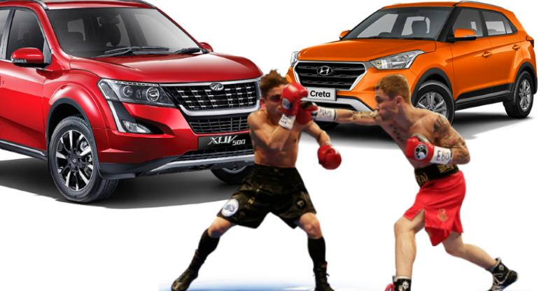 Facelifted 2018 Mahindra XUV500 vs Hyundai Creta; Detailed comparison of price, specs, features & more
