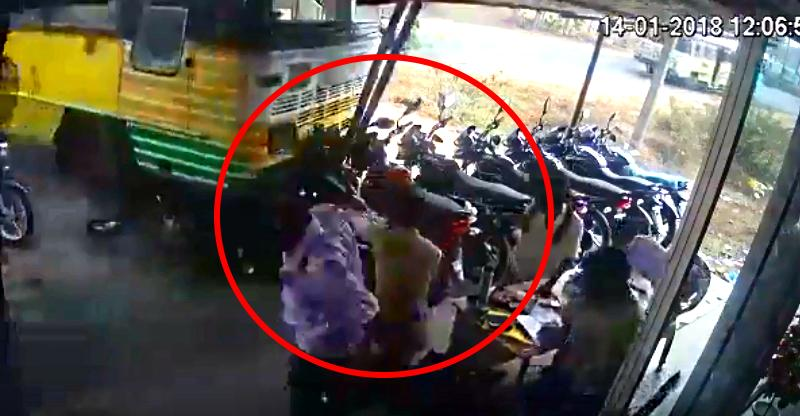 Out-of-control bus crushes Bajaj motorcycles & people; Scary CCTV footage