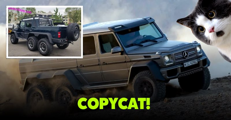 China does it again, copies Mercedes-AMG G63 6X6!