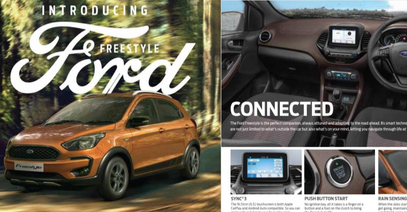 Figo-based Ford Freestyle brochure released; Mileage, features & more details revealed