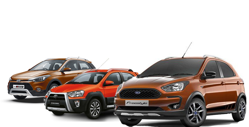 ford freestyle vs hyundai i20 active vs toyota etios cross