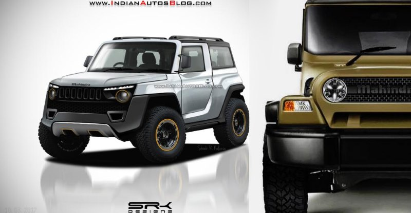 Future Mahindra Thar to be a lot safer, modern; 5 renders to show what it could look like!