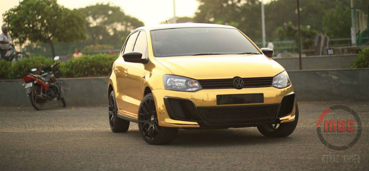Gold and chrome wrapped cars: From Mahindra XUV500 to VW Polo to Hyundai i20 and more!