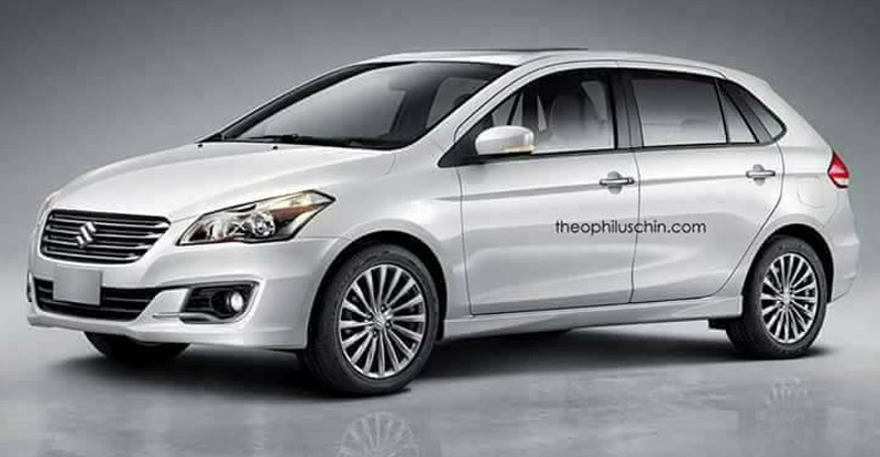 maruti ciaz hatchback rendering front angle