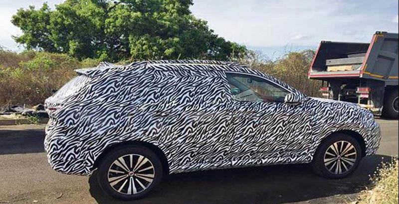 MG Motors' electric SUV spied in India