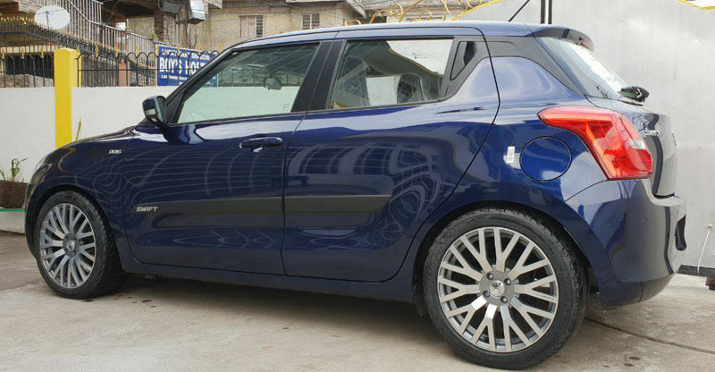 modified new maruti swift lowered AM racing images