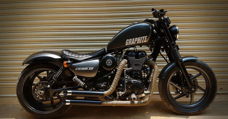 modified Royal Enfield thunderbird 350 graphite