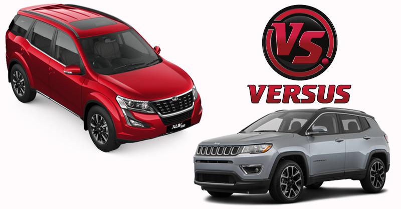 new mahindra xuv500 vs jeep compass images